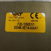 """VAT 20046-XE14-AAA1 Throttle Gate Valve Assembly 7-3/4"""" Inner Diameter Swiss"""