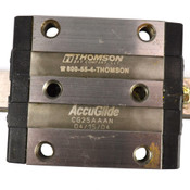 "(Lot of 2) Thompson CG25AAAN AccuGlide Bearing Blocks w/ (2) 7"" (177.8mm) Rails"