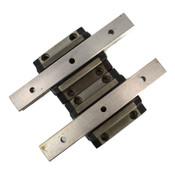 "(Lot of 2) Thompson CG25AAAN AccuGlide Bearing Blocks w/ (2) 7"" (177.8mm) Rails"