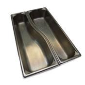 "(Lot of 2) Vollrath 3100040 Wild Pan 3-1/2"" Deep Stainless Steel Full Pan Size"