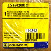 NEW Square D US36020018 200A 240V 50/60Hz 125VDC Mounting Base for Multi 9 C60