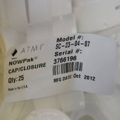 (Lot of 5) NEW ATMI SC-23-04-07 NOWPak TransSpin IS-0040 Cap/Closures 2.7""