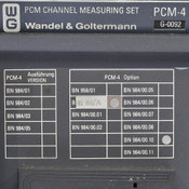 Wandel&Goltermann PCM-4 Channel Measuring Set AS-IS Powers up, blank display