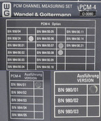 Wandel&Goltermann PCM-4 Channel Measuring Set AS-IS Power-On, Calibration Errors