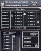 Wandel&Goltermann PCM-4 Channel Measuring Set AS-IS 984/01 958/24 980/03 U0005