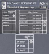 Wandel&Goltermann PCM-4 Channel Measuring Set AS-IS BN 984/01 980/01 F0033