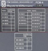 Wandel&Goltermann PCM-4 Channel Measuring Set AS-IS 958/21 984/02 980/01 E0035