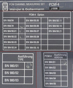 Wandel&Goltermann PCM-4 Channel Measuring Set AS-IS BN 958/24 980/01 J0098