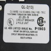 NEW Circuit Breaker Industries QL-2(13) 8 Amp Miniature Circuit Breaker 120/240V
