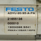 Festo ADVU-20-95-A-PA Compact Pneumatic Air Cylinder 20mm Bore / 95mm Stroke