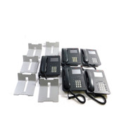 (Lot of 5) Avaya 9621G SIP Protocol Busniess Telephones w/ Stands And Handsets