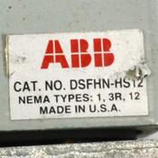 (Lot of 3) ABB DSFHN-HS12 Flange Mounted Switch Handle Nema-12 Padlockable