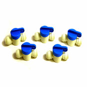 "(Lot of 5) NEW G.A. Murdock PPSV041212W 3/8"" JG Speedfit Shut Off Valves"