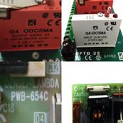 Opto 22 G4PB8 I/O PCB w/(6) I/O Logic Modules & Densei Lambda PWB-654C PSU