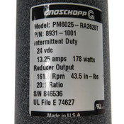 NEW Groschopp PM6025-RA2620T DC Motor w/Worm Gear Reducer 20:1 24VDC 178W