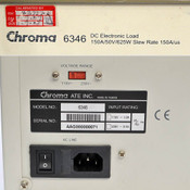 Chroma 6346 High Slew Rate DC Electronic Load 150A/us 625W 150A 50V with GPIB