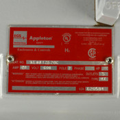 NEW EGS Appleton AEAB12620C Explosion-proof Bolted Circuit Breaker 20A+Enclosure