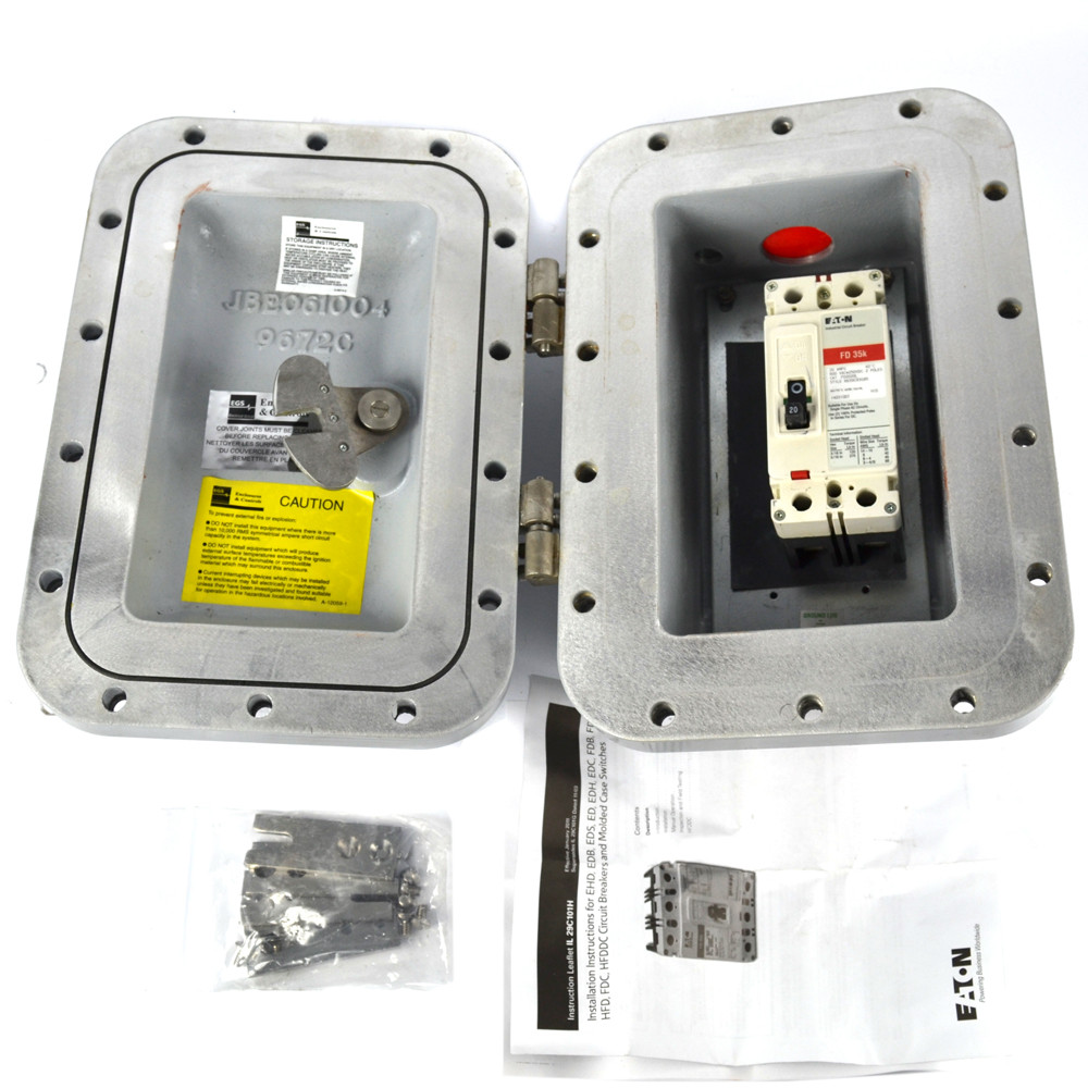 egs appleton aeab12620c explosion proof bolted circuit breaker 20a and enclosure