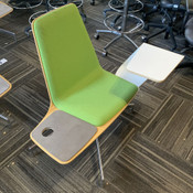 Haworth Harbor Work / Lounge Chair w/ Sliding Tablet Arm -- Color: Fresh Green