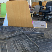 "Haworth Harbor Work / Lounge Chair w/ Sliding Tablet Arm Color: ""Marinara"" Pink"