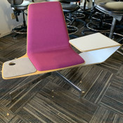 "Haworth Harbor Work / Lounge Chair w/ Sliding Tablet Arm Color: ""Marinara"" Pink"