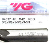 "(Lot of 5) YG 04337 5/8"" M42 Non-Center Cutting Regular Length Cobalt End Mill"