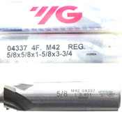 "(Lot of 3) YG 04337 5/8"" M42 Non-Center Cutting Regular Length Cobalt End Mill"