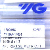 (Lot of 5) YG 16020HC Y4TRA-14004 14mm 4-Flute End Mill Regular Length