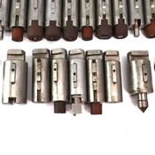 (Lot of 26) Mate Precision Tooling Armada Press Brake No-Shear Punch Holders