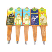"(Lot of 5) Thirsty Planet Austin Brewed 13"" Wooden Beer Tap Handles Assorted"