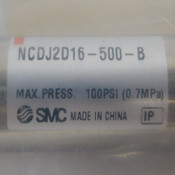 "NEW SMC NCDJ2D16-500-B Linear Actuator Air Cylinder 8.6""L 100PSI Non-Lube"