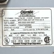 Current Technology MP277/480-3GY-DF-FCC-DC-4 Transient Voltage Surge Suppressor