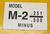 NEW Model M-2 0.251 - 0.500 Minus Pin Gage Set with Wooden Case Still-In-Paper