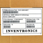 (Lot of 10) Inventronics EUC-320S140DT 320W 1400mA CC Dimming LED Driver