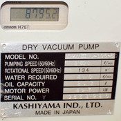 (Lot of 2) Kashiyama SD90V III Single Stage Dry Screw Pumps AS-IS Contaminated