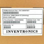 (Lot of 12) Inventronics EUC-200S070DT 200W 700mA CC Dimming LED Driver