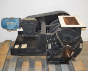 "Industrial Airlock Dry-Bulk Material Handler 3Ph 2Hp Chain-Driven Flange:19""x12"""