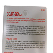"""(Lot of 10) Coax-Seal #104 Hand-Moldable 5ft x 1/2"""" Plastic Weatherproofing Tape"""