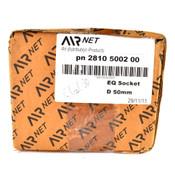 "AIRnet 2810 5002 00 Equal Diameter Socket D 50mm / 2"" Aluminum Pipe Fitting"