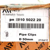 (Lot of 15) Airnet 2810 5022 20 D50 M6 Pipe Clip for Pneumatic Aluminum Pipe