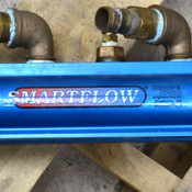 "Burger & Brown Smartflow 2-1/2"" Blue Aluminum 24 1-1/4""--NPT Port Water Manifold"