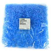(1000) Global Scientific 111558B Blue 1.5mL Microcentrifuge Tube w/ Attached Cap