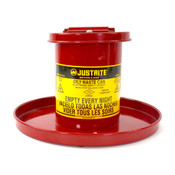 Justrite 09400 Bench Top Solvent Oily Waste Can 0.45 Gallon (1.70 Liters) Red