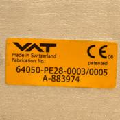 "VAT 64050-PE28-003/0005 12.5"" Pneumatic Air Operated Control Gate Valve"