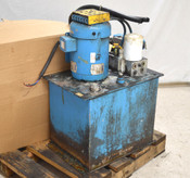 Vickers Eaton 7-1/2-Hp 3-Ph Hydraulic Pump Power Unit Holding-Tank Pilot-Valve