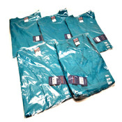 (5) NEW Cherokee Workwear 4777 TLBW Teal Unisex Fit Medium M Scrub V-Neck Shirts