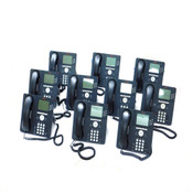 (Lot of 10) Avaya 9630G IP Business Telephones PoE 48V w/ Handsets & Stands