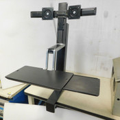 Ergotron Sit/Stand Dual Monitor Workstation WorkFit-S 33-341-200
