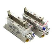 (Lot of 2) Omron STI P7SA-14F-ND DC24 Relay Sockets 14-Pin DIN Rail 24V, 6A