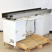180cm Edge Belt Conveyor 5cm to 305cm Adj. Width Open Center Yokogawa Gearmotor